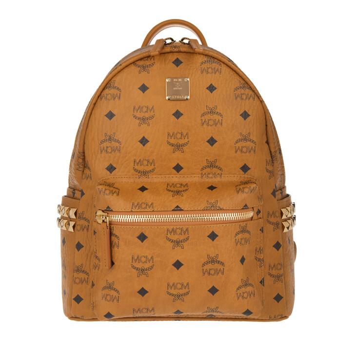 bags, MCM, Stark Backpack Small Cognac