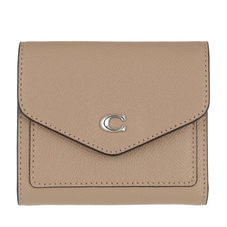 Geldbörse, Coach, Crossgrain Leather Wyn Small Wallet Lh/Taupe