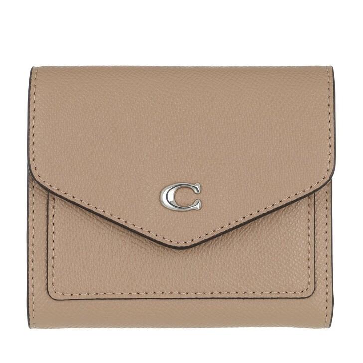 Geldbörse, Coach, Crossgrain Leather Wyn Small Wallet Taupe