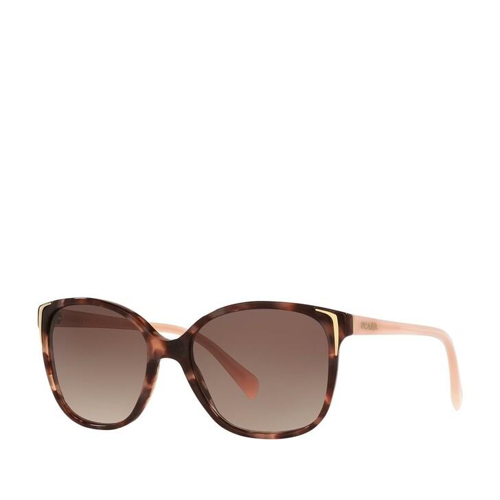 Sonnenbrille, Prada, AZETAT WOMEN SONNE SPOTTED BROWN PINK