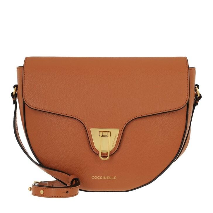 bags, Coccinelle, Handbag Bottalatino Leather  Chestnut