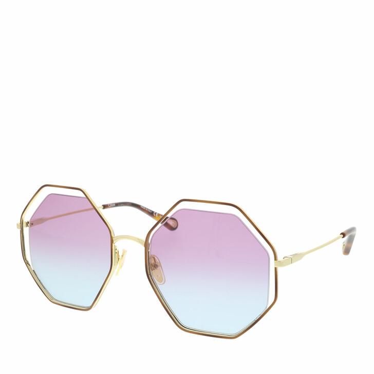 Sonnenbrille, Chloé, Sunglass WOMAN METAL HAVANA-GOLD-VIOLET