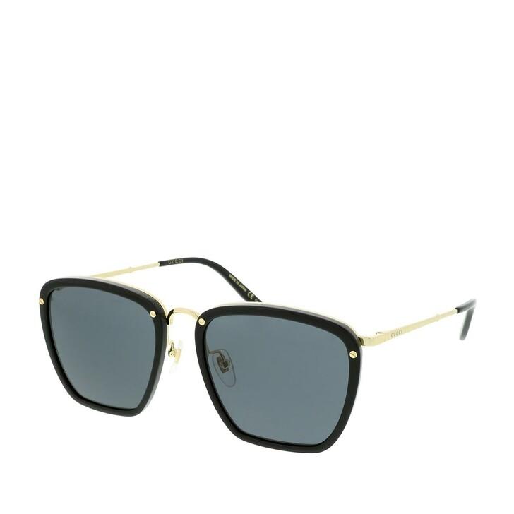 Sonnenbrille, Gucci, GG0673S-001 56 Sunglasses Black-Gold-Grey
