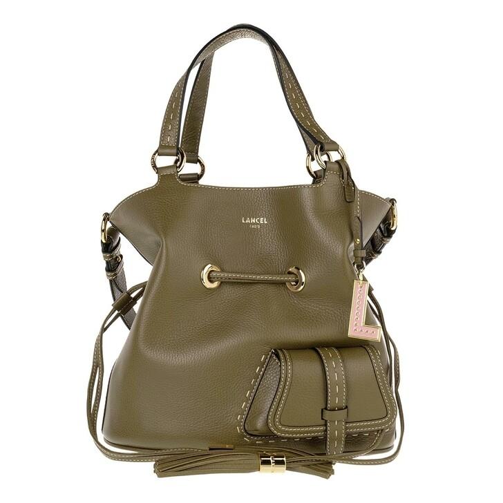 Handtasche, Lancel, Flirt Grained Leather Bucket Bag Medium Kaki