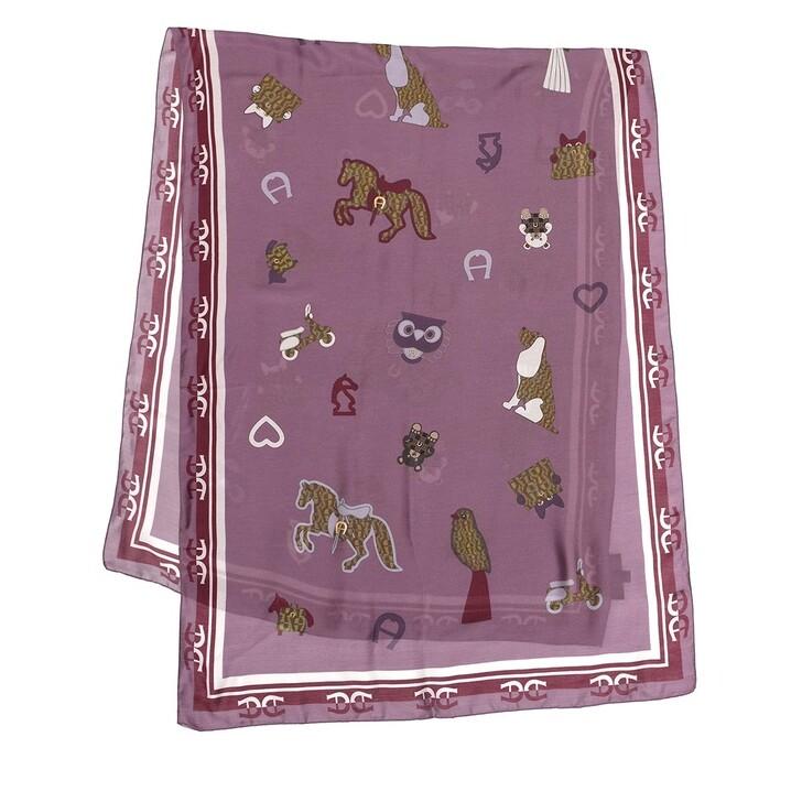 scarves, AIGNER, Seasonal Stola 70 x 180 cm Amethyst