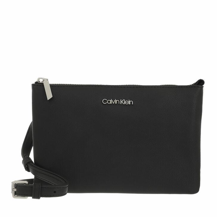 bags, Calvin Klein, CK Must Double Crossbody CK Black