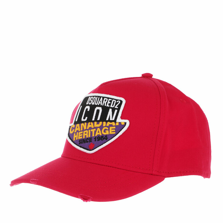 Mütze, Dsquared2, Canadian Heritage Branded Baseball Cap Red