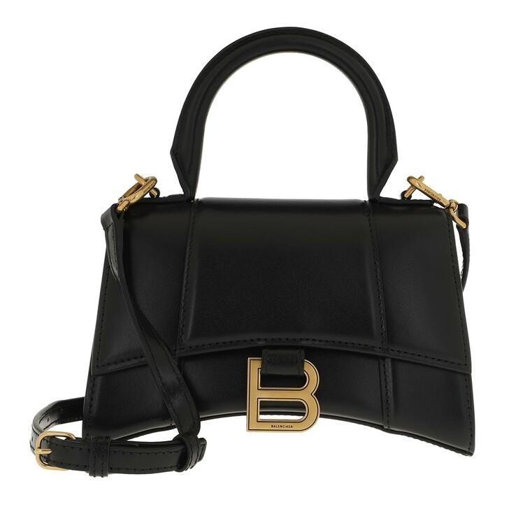 Handtasche, Balenciaga, XS Hourglass Crossbody Bag Leather Black