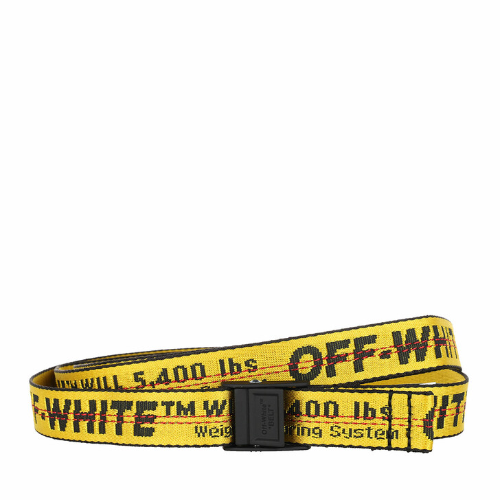 Gürtel, Off-White, Mini Industrial Belt Yellow Black