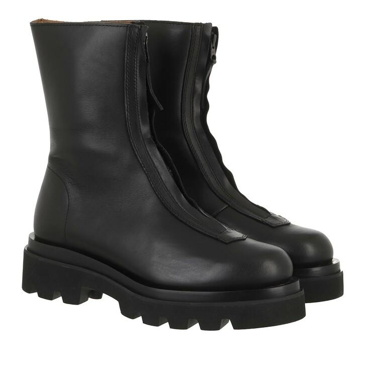 shoes, Toral, Boots With Zipper Front And Track Sole Black