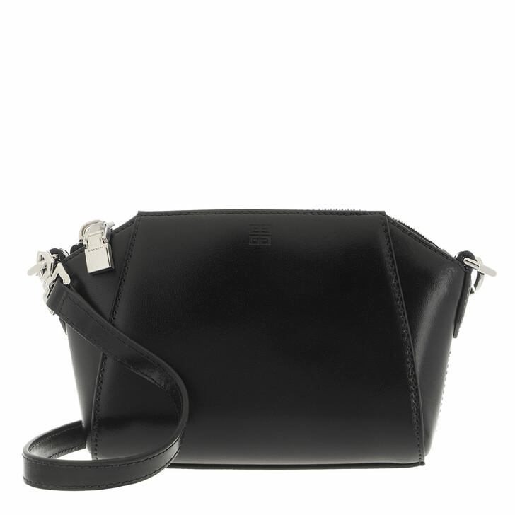 bags, Givenchy, Nano Antigona Crossbody Bag Leather Black
