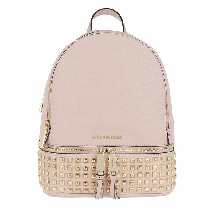 Reisetasche, MICHAEL Michael Kors, Rhea Zip Medium Pyr Stud Backpack Soft Pink