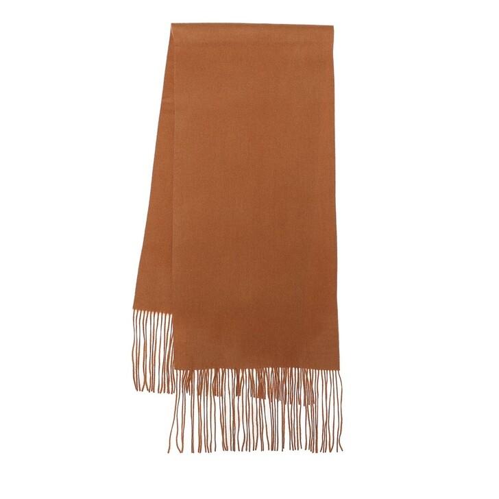 scarves, By Malene Birger, Fringes Wool Scarf  Raw Sugar