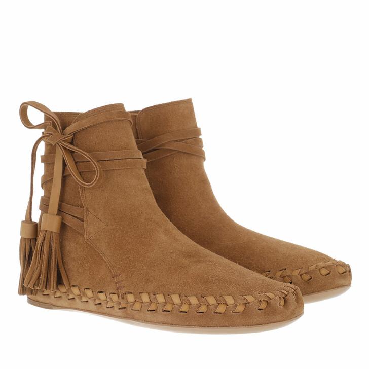 shoes, Celine, Marlou Ankle Boots Suede Tan