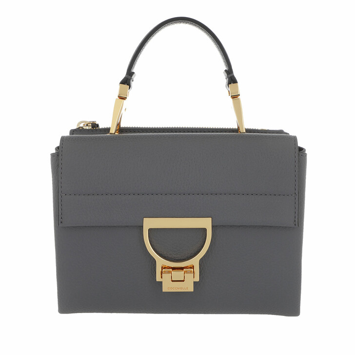 bags, Coccinelle, Arlettis Grainy Leather Ash Grey