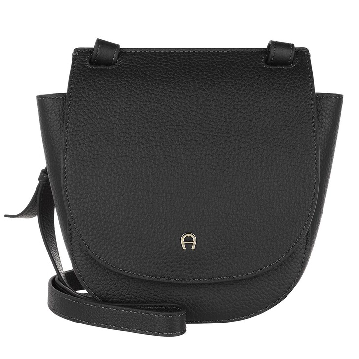 Handtasche, AIGNER, Selma Handle Bag Black