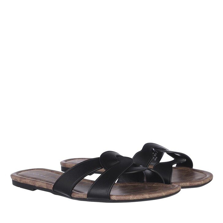 Schuh, Coach, Essie Leather Sandal Black