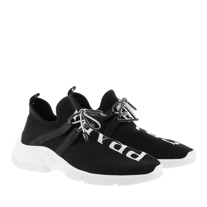 Schuh, Prada, Calzino Sneakers Black/White