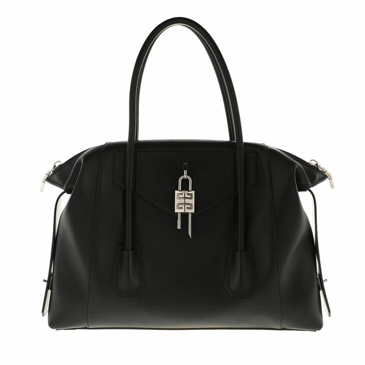 bags, Givenchy, Medium Antigona Soft Lock Shoulder Bag Black