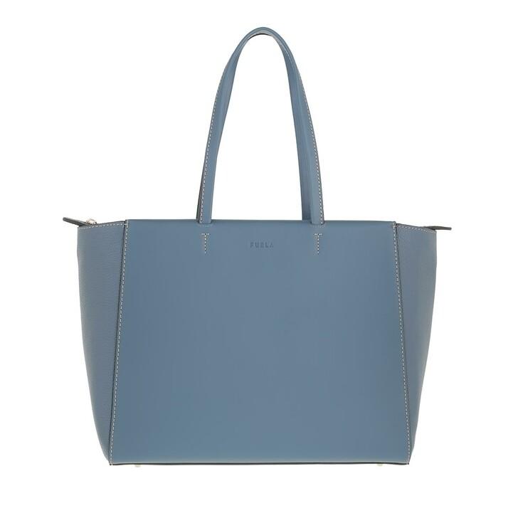 bags, Furla, Furla Regina L Tote Blu Denim