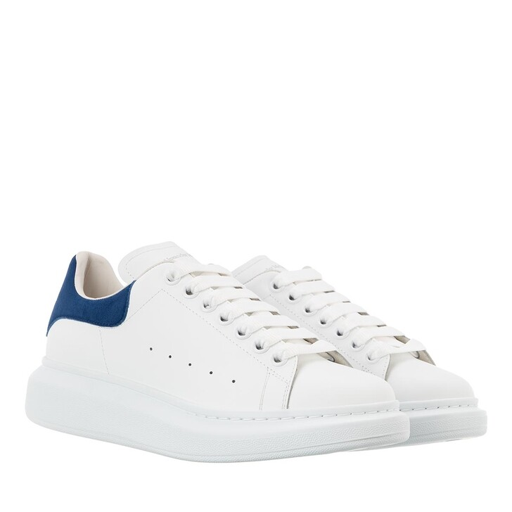 Schuh, Alexander McQueen, Sneakers Leather White/Paris Blue