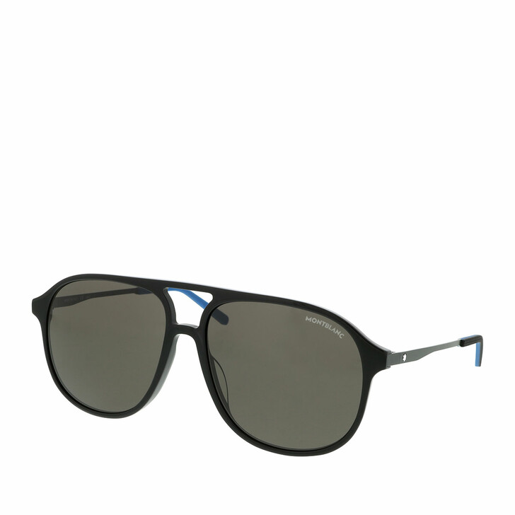 Sonnenbrille, Montblanc, MB0118S-001 59 Sunglass MAN ACETATE Black