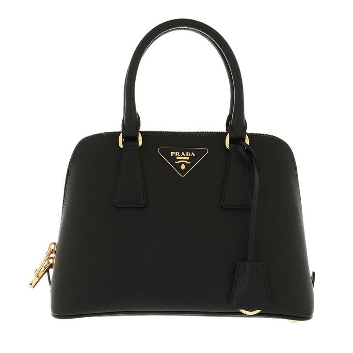 bags, Prada, Galleria Shoulder Bag Leather Black