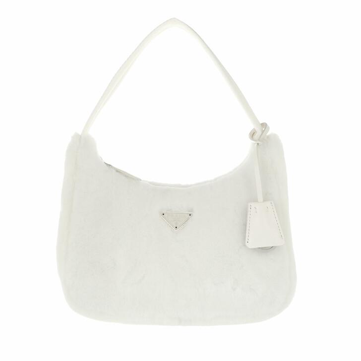 bags, Prada, Re Edition 2000 Mini Bag White