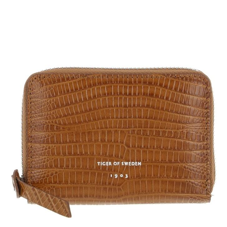 wallets, Tiger of Sweden, Weldia Purse / Wallet (Leather) Cognac