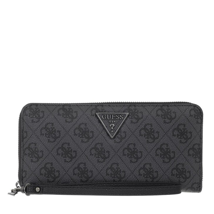 wallets, Guess, Noelle Slg Large Zip Around Coal