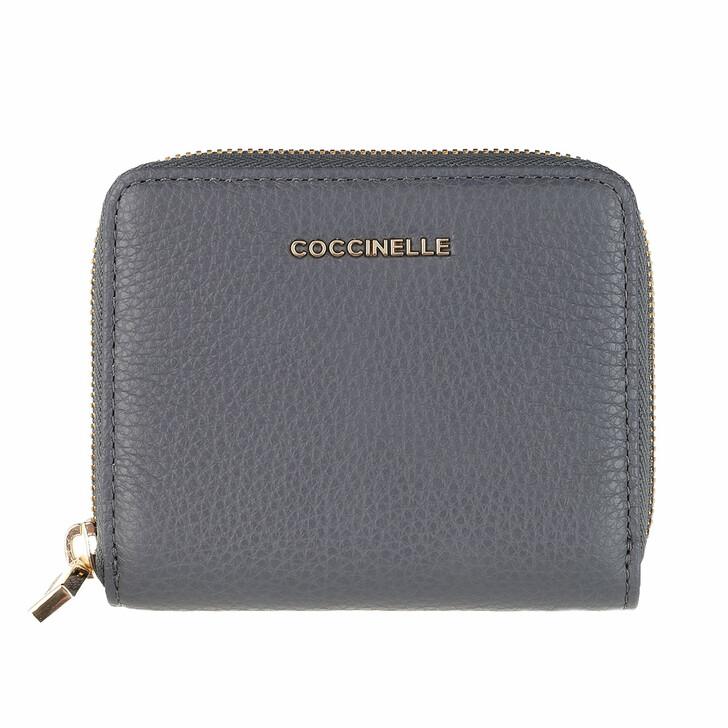 Geldbörse, Coccinelle, Wallet Grainy Leather Ash Grey