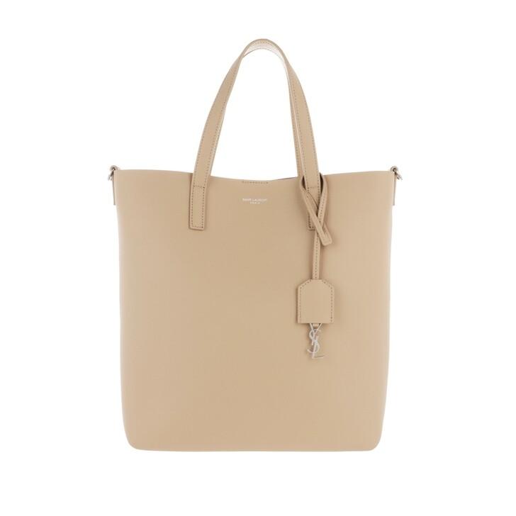 Handtasche, Saint Laurent, Shopping Bag Leather Dark Beige
