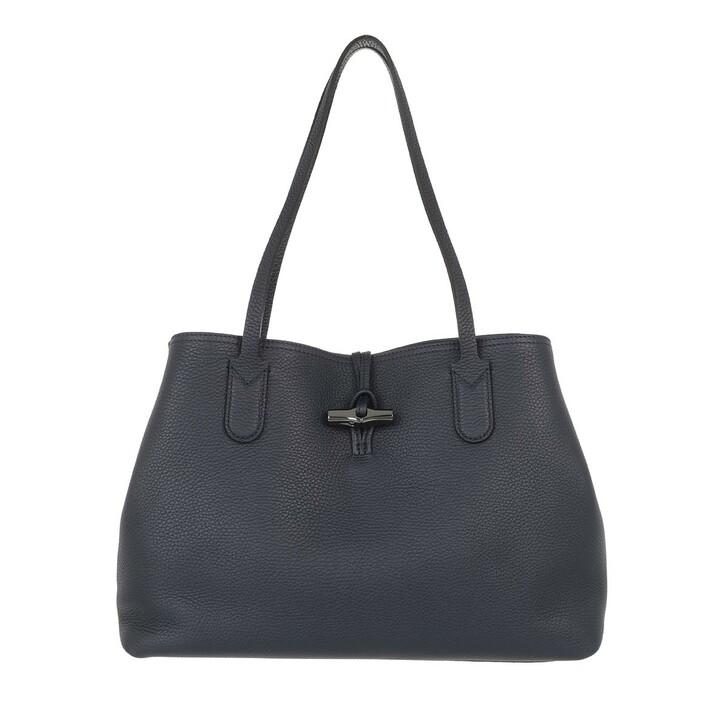 bags, Longchamp, Roseau Essential Shoulder Bag Marine