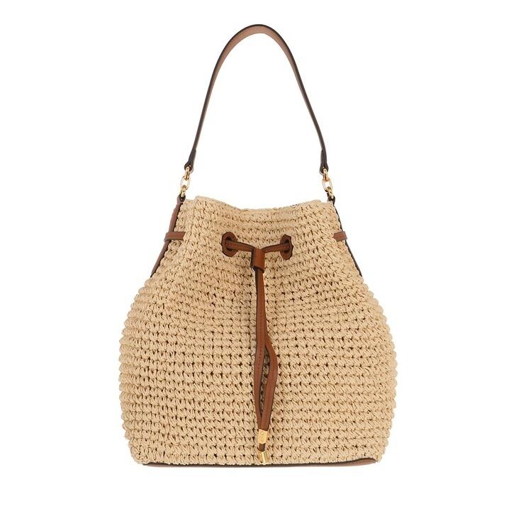 Handtasche, Lauren Ralph Lauren, Debby Drawstring Medium Natural/Lauren Tan