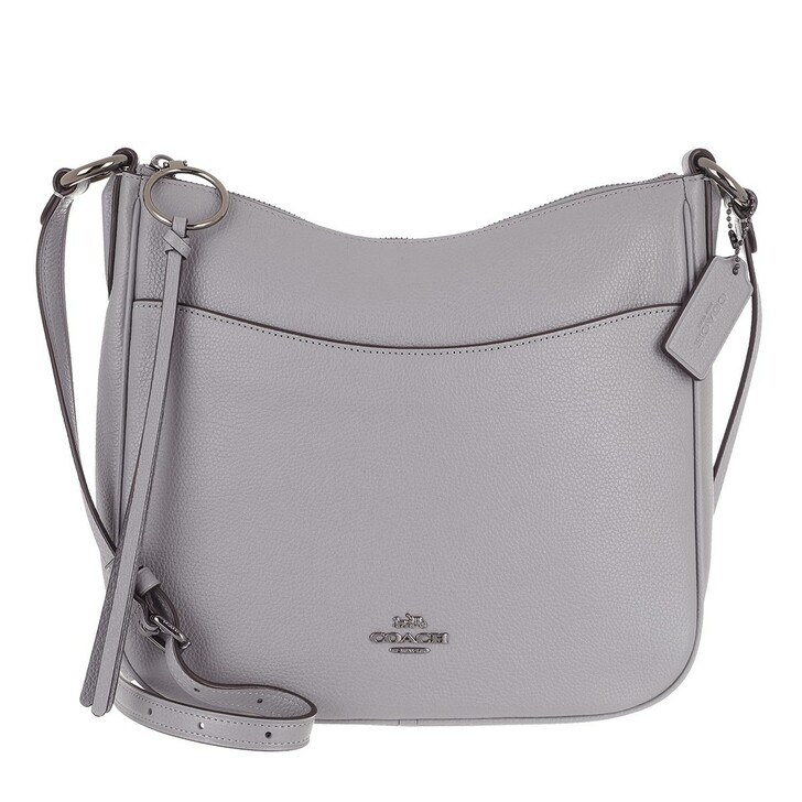 Handtasche, Coach, Polished Pebble Leather Chaise Crossbody Granite