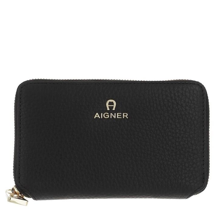 wallets, AIGNER, Wallet Black