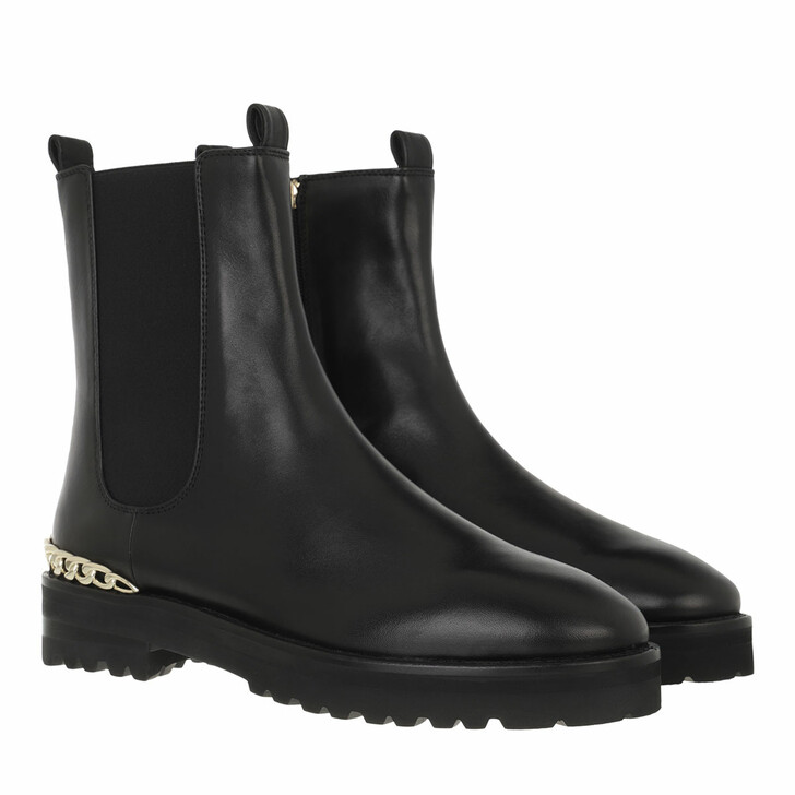 shoes, AIGNER, Chelsea Style Bootie Black