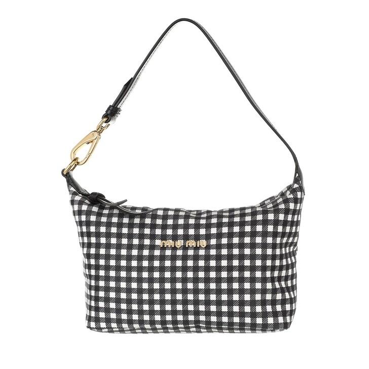 bags, Miu Miu, Spirit Printed Faille Mini Bag Black
