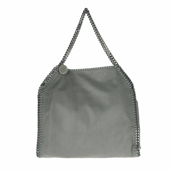 bags, Stella McCartney, Falabella Shaggy Deer Small Tote Light Grey