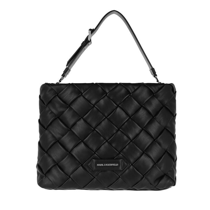 Handtasche, Karl Lagerfeld, Kushion Braid Tote Black