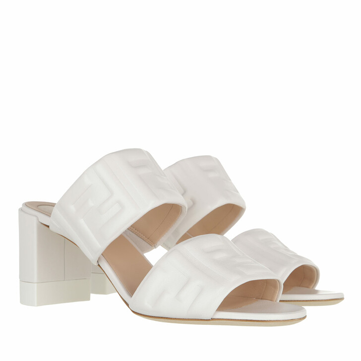 shoes, Fendi, FF Slide Sandals Leather Snow
