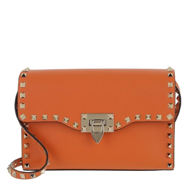 Handtasche, Valentino Garavani, Rockstud Crossbody Bag Orange Zest