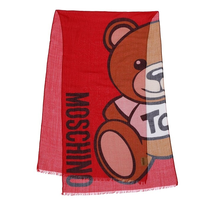 scarves, Moschino, Scarf Red