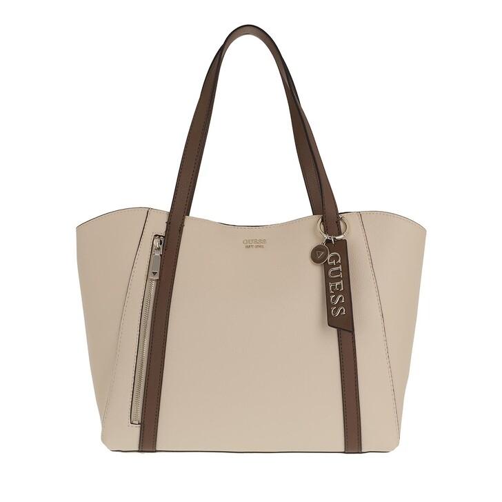 Handtasche, Guess, Naya Trap Tote Bag Bone Dark Brown