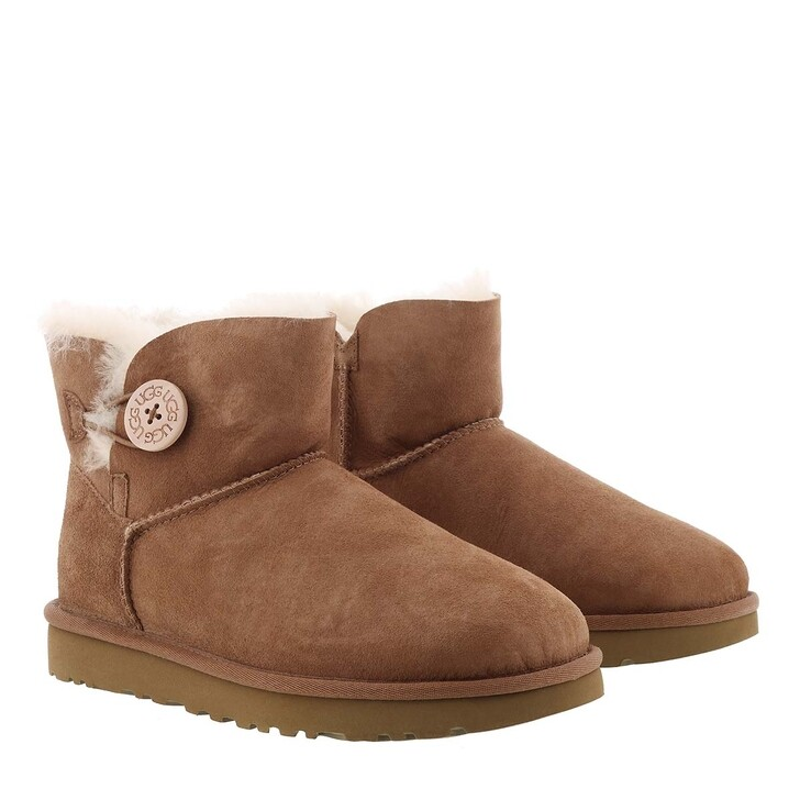 Schuh, UGG, W Mini Bailey Button II Chestnut