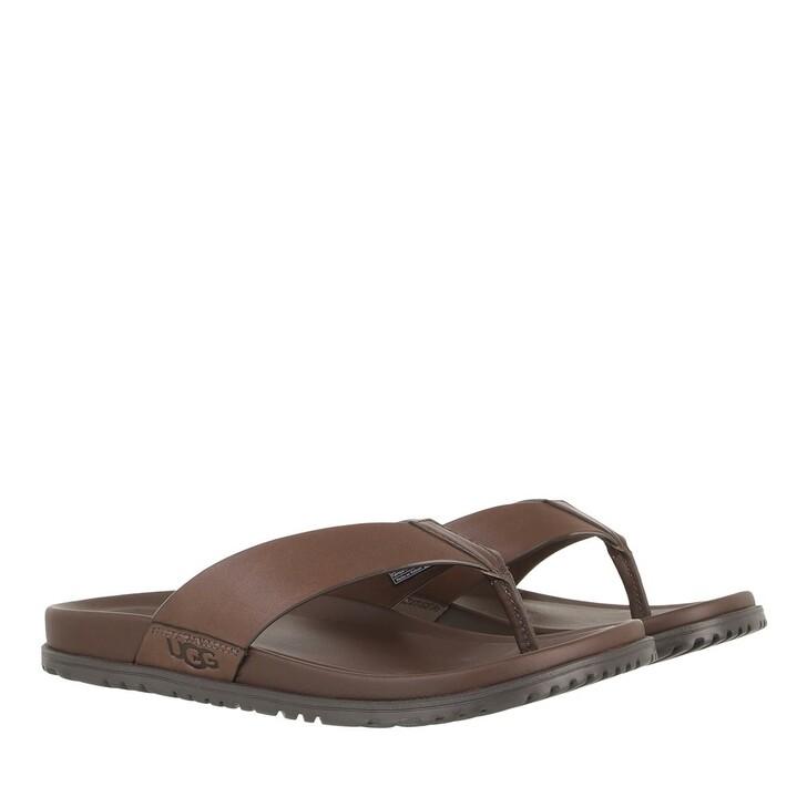 Schuh, UGG, Men Wainscott Flip Sandal Leather Grizzly