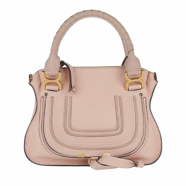 Handtasche, Chloé, Marcie Crossbody Bag Grained Calfskin Nude