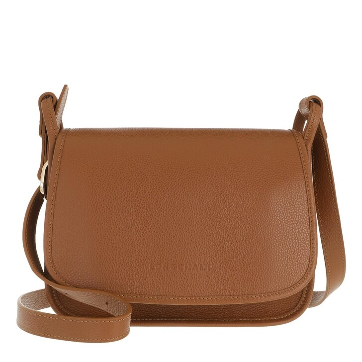 bags, Longchamp, Le Foulonné Crossbody Bag Caramel
