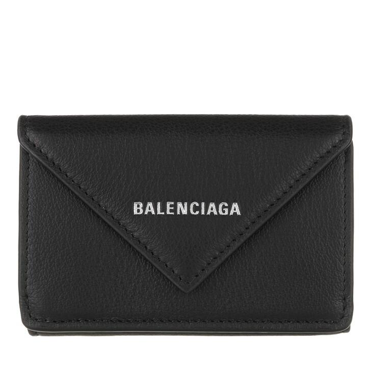 Geldbörse, Balenciaga, Mini Paper Wallet Calfskin Black