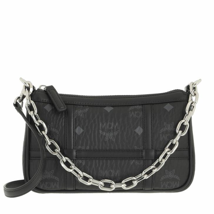 bags, MCM, Delmy Visetos Shoulder Mini  Black
